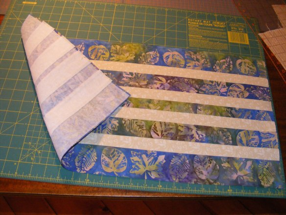 Outside with fusible interfacing (pellon)