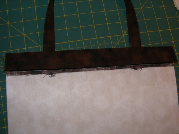 Press with finished edge matching the stitch in the ditch seam