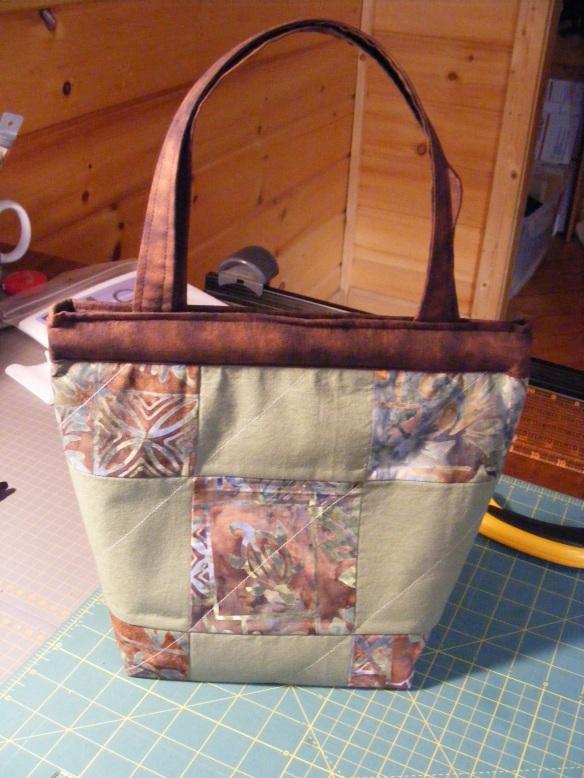 Finished snap close purse
