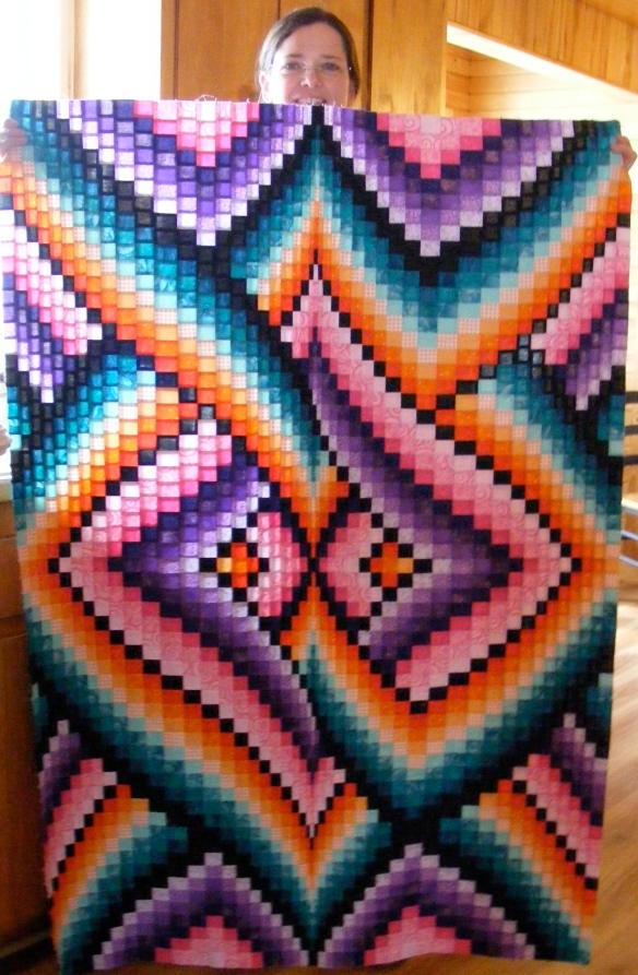 Links Bargello Quilt Top