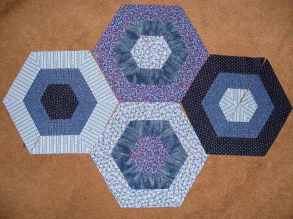 blue hexagons