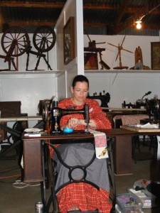 Demonstrating at the museum 2013